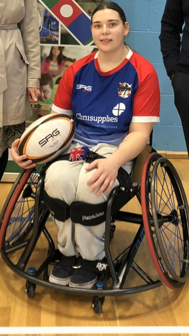 Sport success - Freya, 23, has competed for Great Britain at rugby 7s