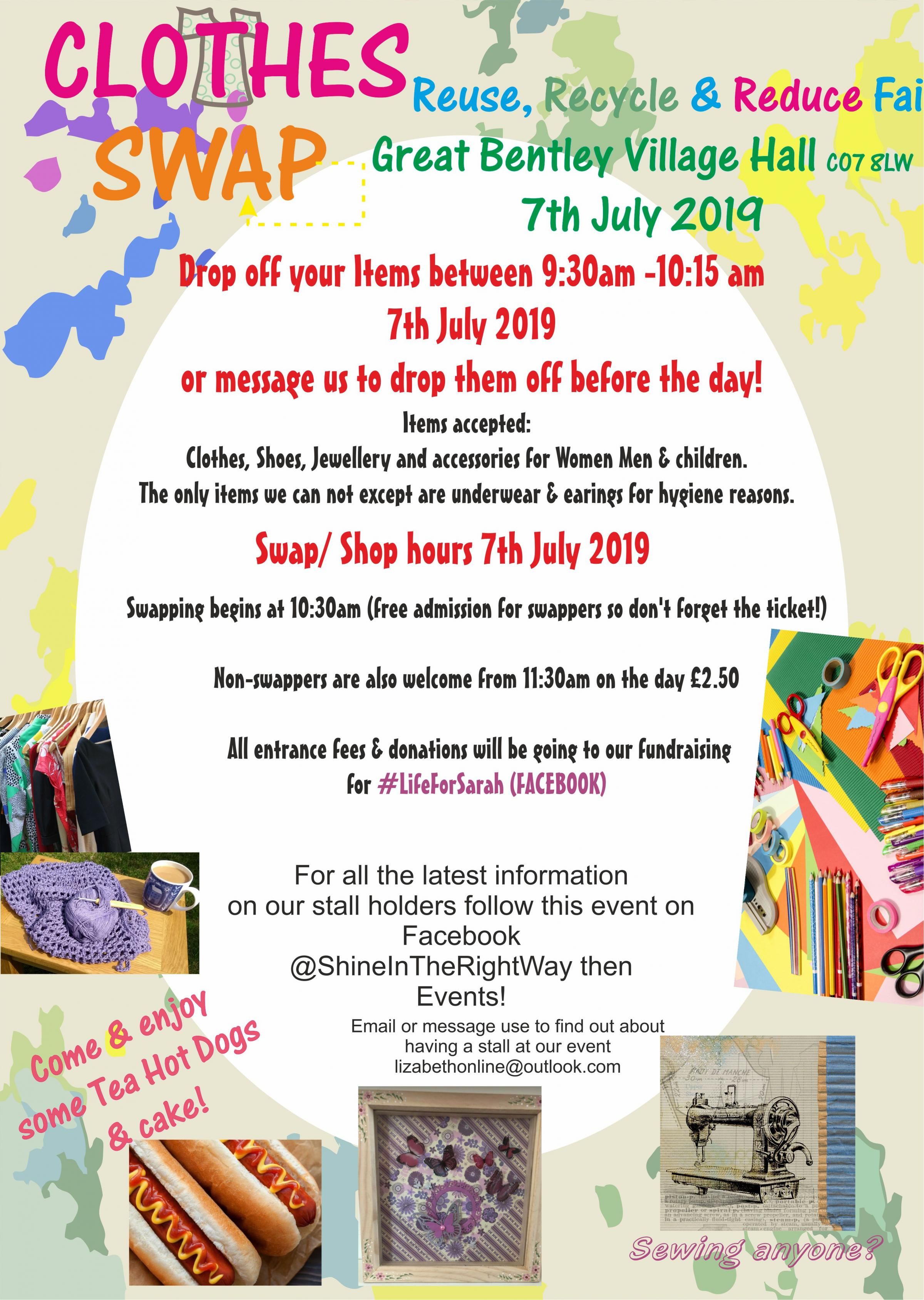 Clothes Swap Reuse Recycle & Reduce