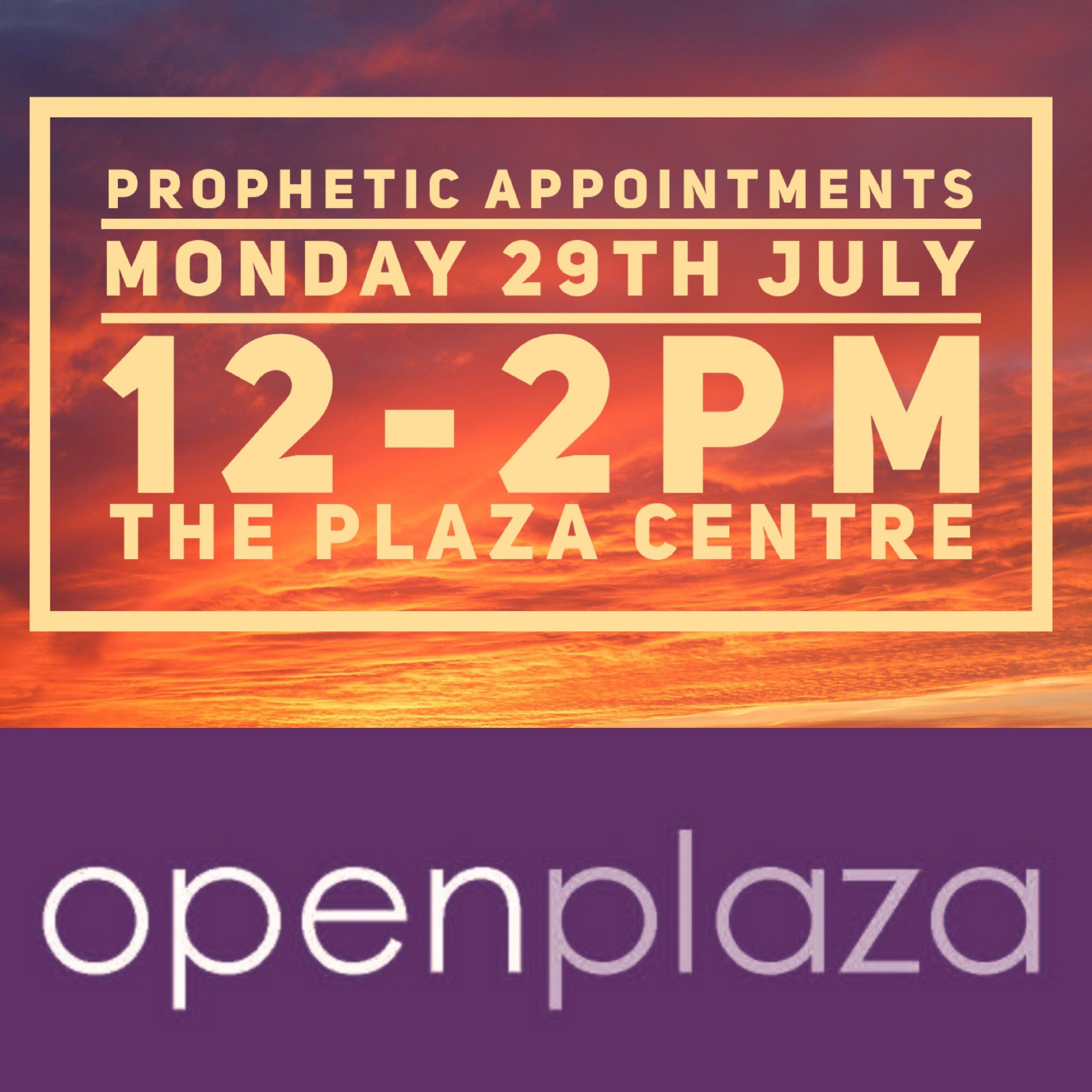 Need some encouragement?  Come along for a prophetic appointment