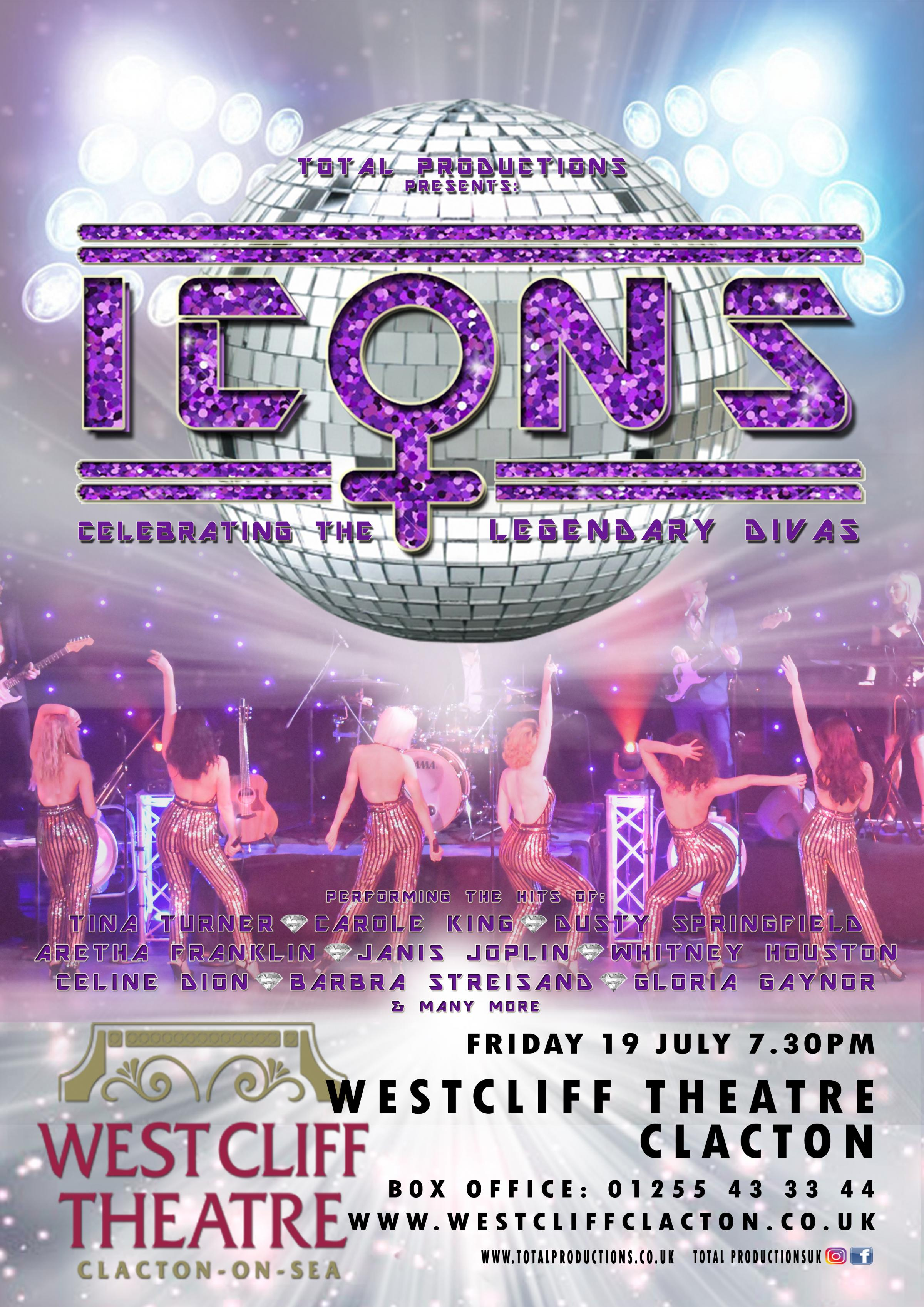 Icons: Celebrating the Legendary Divas @ West Cliff Theatre, Clacton