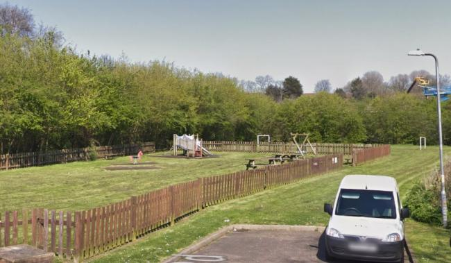 Controversial - developers claimed Gunning Road play area was underused