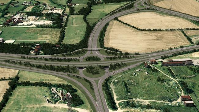 Improvements - An artist's impression of what the Fairglen Interchange will look like after the £17 million project