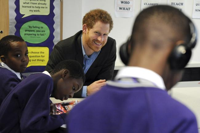 Prince Harry visit to Nottingham