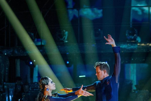 Embargoed to 2015 Saturday November 9..For use in UK, Ireland or Benelux countries only..BBC handout photo, dated 09/11/19, of Katya Jones and Mike Bushell, during a dress rehearsal for the BBC1 dance contest, Strictly Come Dancing ahead of this evening&#