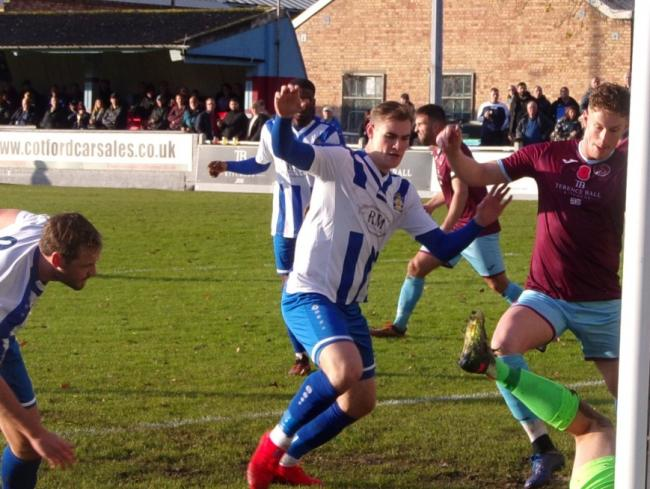Proud to have made history - Harry Gibbs grabbed Aveley's winner Picture: AVELEY FC TV