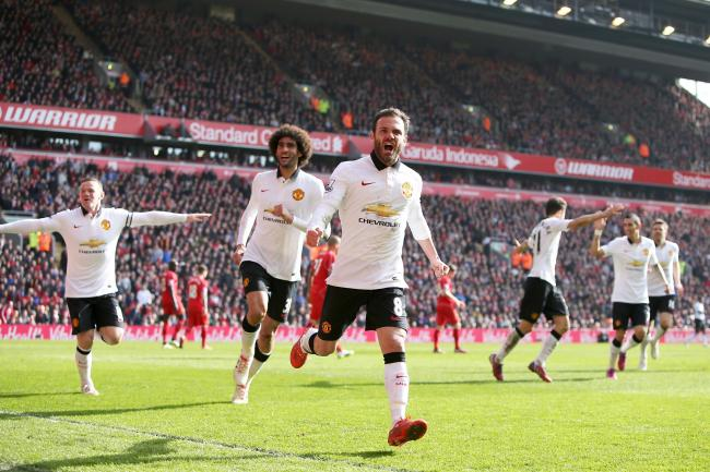 Juan Mata fired Manchester United to victory at Anfield in 2015