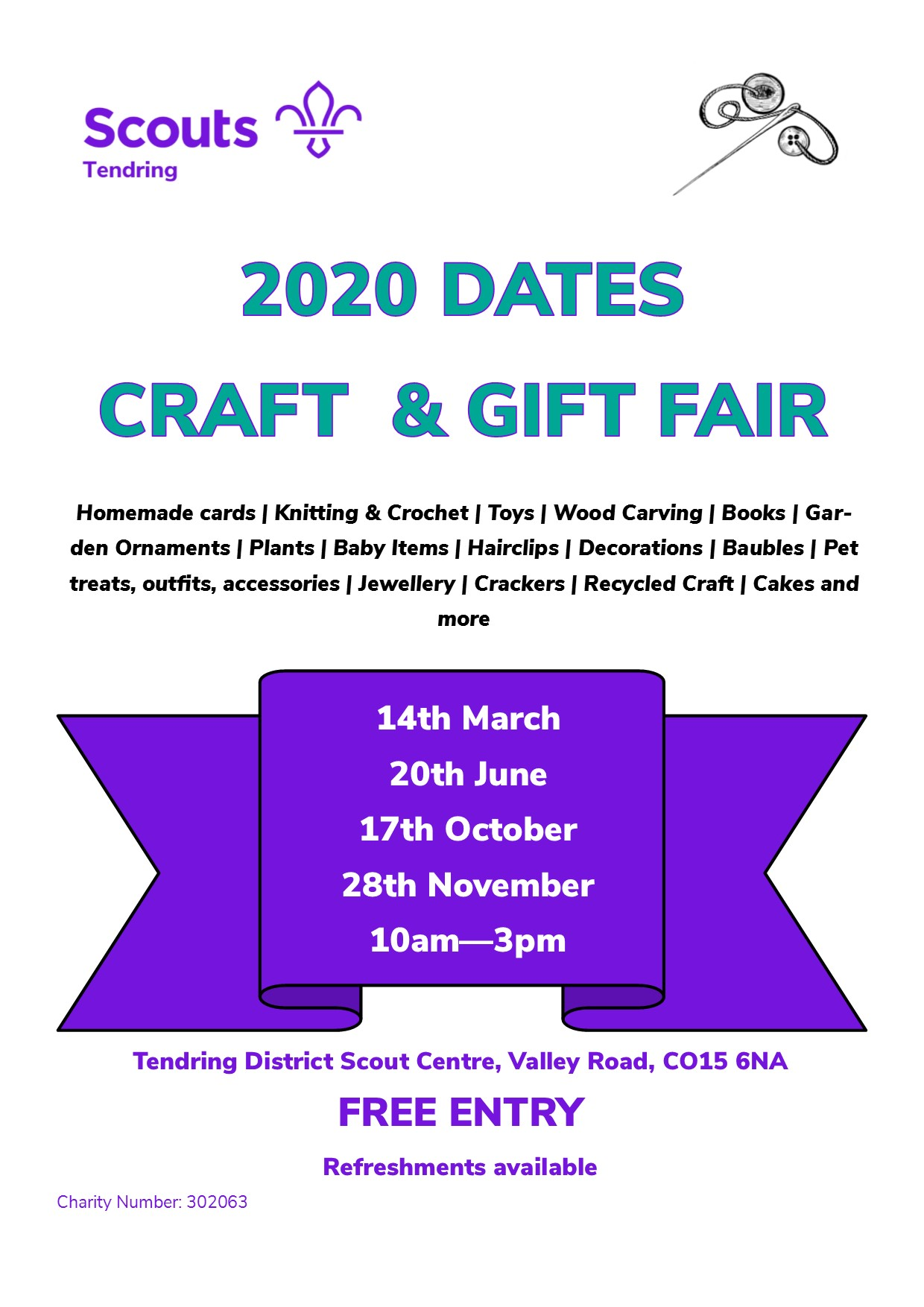 Tendring District Scouts Craft & Gift Fair