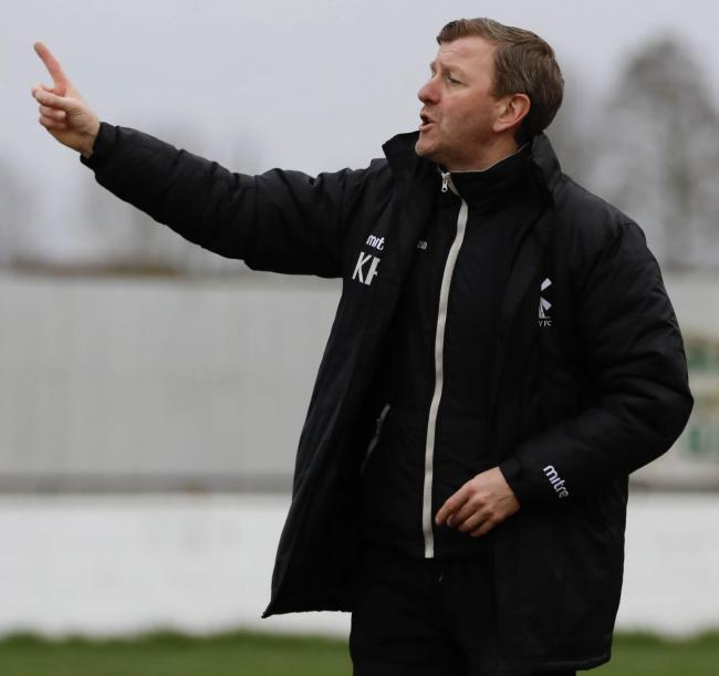 Pointing the way - Aveley boss Keith Rowland Picture: ALAN EDMONDS