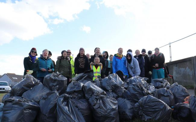 Efforts - the team and waste pile