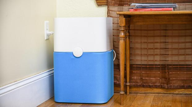 Thurrock Gazette: Whole-room air purifiers, like the Blue Pure 211 , are less portable than personal air purifiers, but are more effective at removing pollutants from larger spaces. Credit: Reviewed.com / Betsey Goldwasser