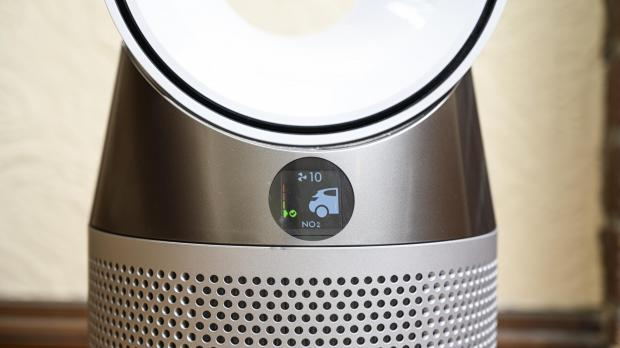 Thurrock Gazette: The Dyson Pure Hot Cool air purifier has a display that allows you to monitor air pollutant concentrations. Credit: Reviewed.com / Betsey Goldwasser
