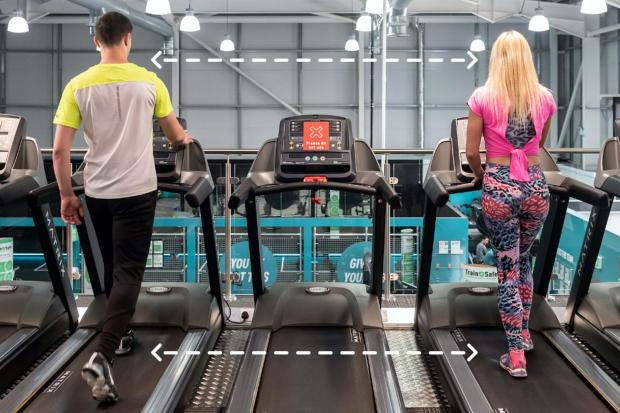 Thurrock Gazette: Social distancing: Pure Gym confirms new rules and what centres will be like when they reopen. Picture: PureGym