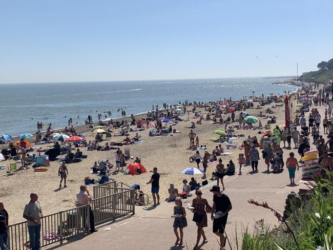 Busy - Clacton beach on Wednesday
