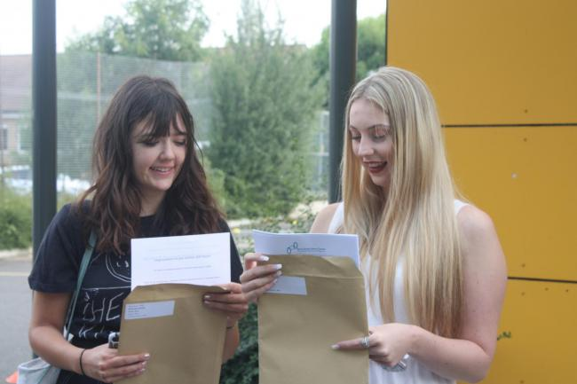 Zara Farcy (left), 18 from Fobbing, and Emily Mitchell (right), 18 from Corringham