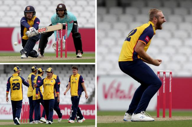Exciting - action from Essex's tie with Surrey    Pictures: GAVIN ELLIS/TGS PHOTOS