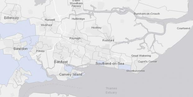 Thurrock Gazette: Evidence - how the map shows south Essex