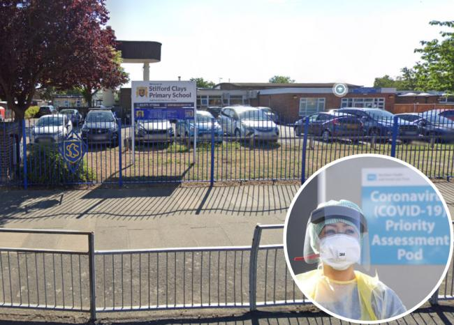 The case has been confirmed in the Stifford Clays Primary School community
