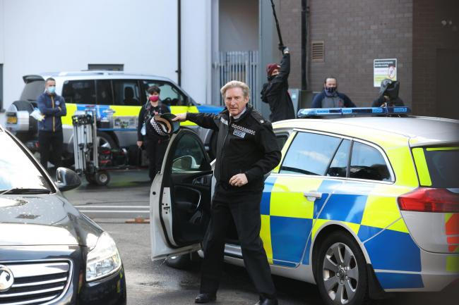 Adrian Dunbar on the set of the sixth series of Line of Duty