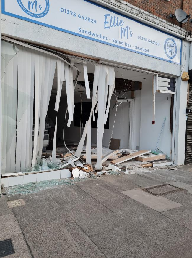 Destroyed - the shop front - pic by Louise Bromfield