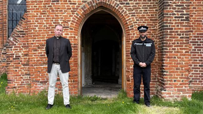District Commander Ant Alcock and Rev'd Canon Paul Hamilton