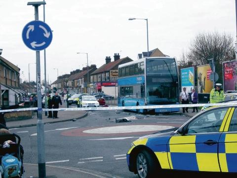 Thurrock Gazette: The scene in London Road