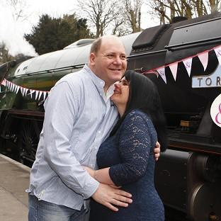 Fiona Boubert proposed to her partner Neil Kennedy on board a steam train