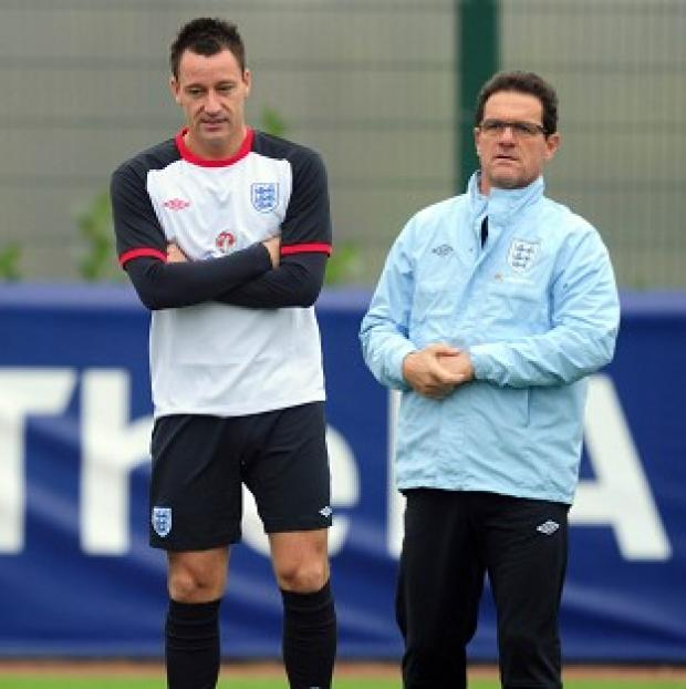 Fabio Capello (right) and John Terry