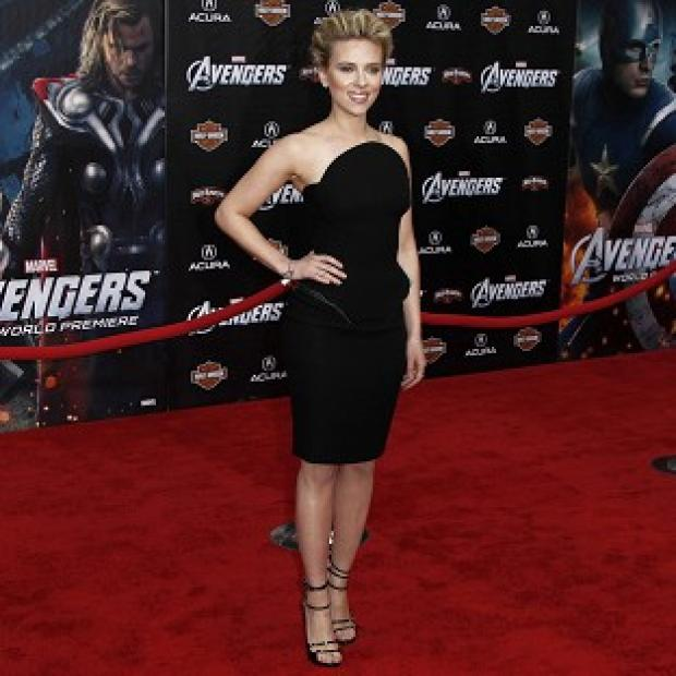Scarlett Johansson stepped out in a little black dress for the Avengers Assemble premiere