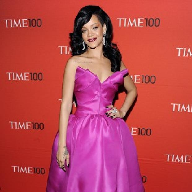 Rihanna looked pretty in pink at the Time 100 gala