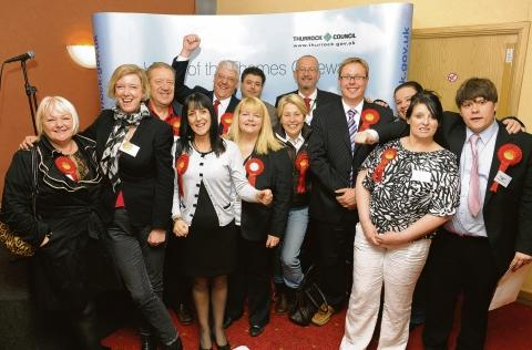 The Labour party celebrates its win