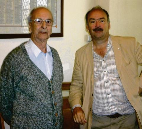Michael Catton with his son, well-known Thurrock Museum curator Jonathan