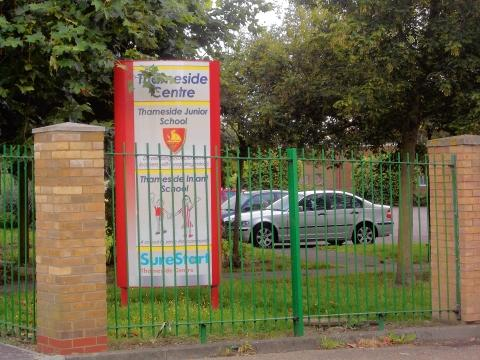 Thameside Junior and Infant school where the