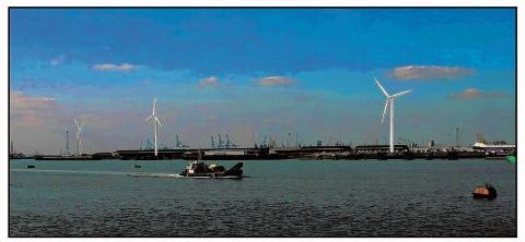 How the wind farm might look at the port