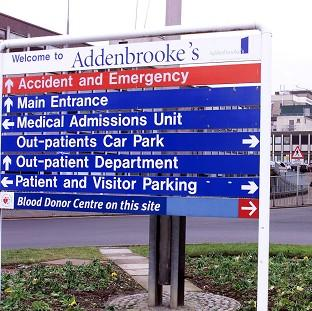 A skydiver was taken to Addenbrooke's Hospital, Cambridge, after an accident in which another man died