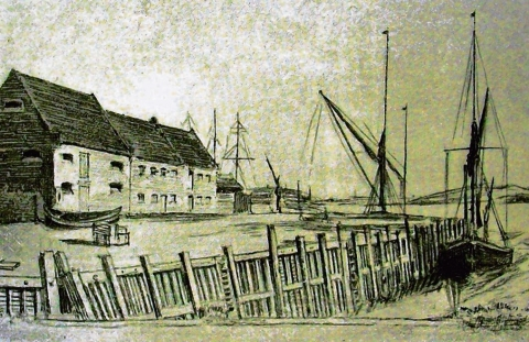 Grays Wharf in the 19th century