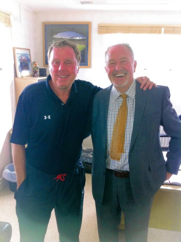 Anton Johnson, right, with Harry Redknapp