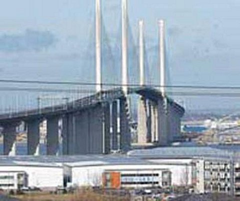 Five mile tailbacks on M25 at Dartford Crossing after cars crash into toll booths