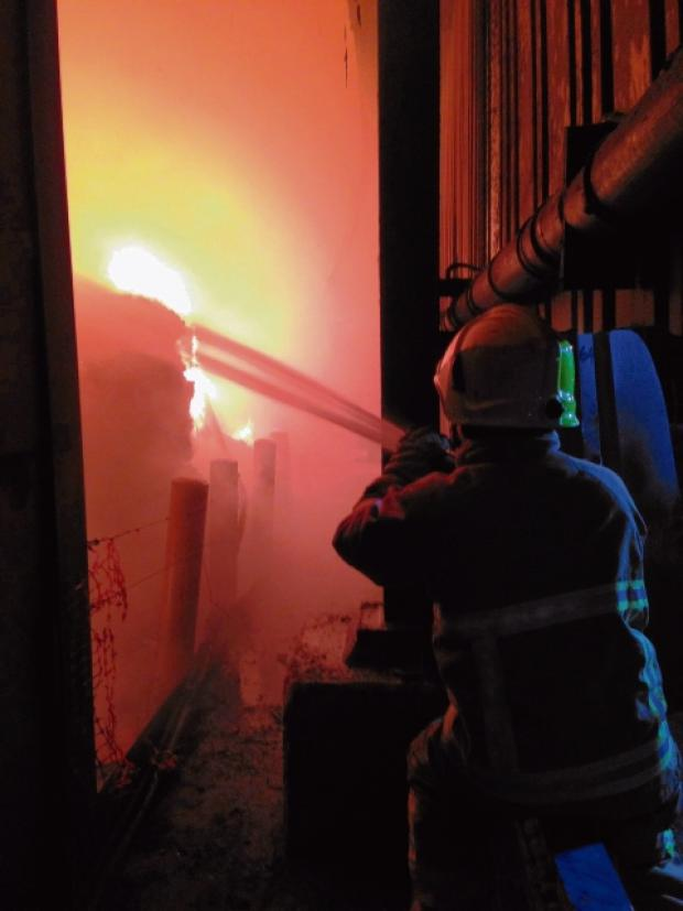 Thurrock Gazette: The blaze (Picture: ESSEX COUNTY FIRE AND RESCUE SERVICE)