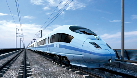 Artists impression of a HS2 train