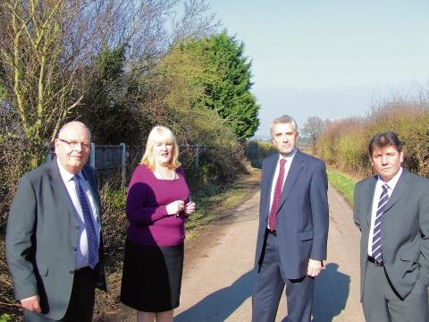 Stephen Metcalfe with PCC Nick Alston and councillors Sue Little and Simon Wootton