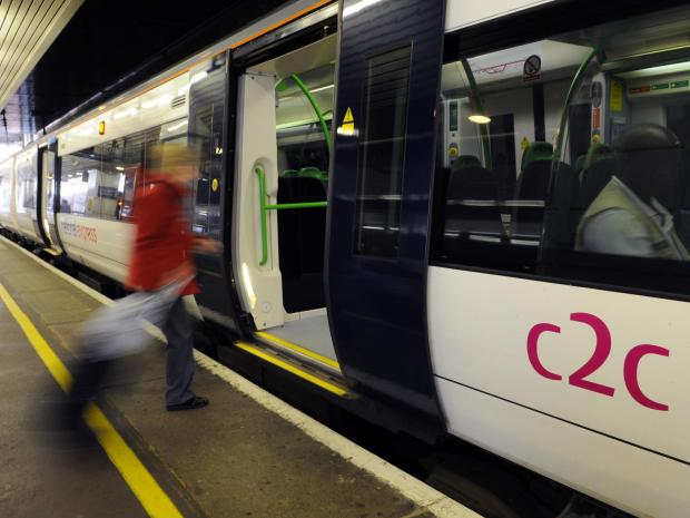 Buses will be replacing certain c2c train services on Sunday