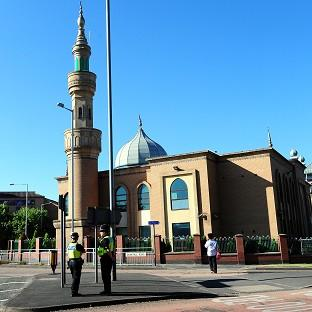 Thurrock Gazette: The 'seat of an explosion and debris' were found on a roundabout near the Wolverhampton Central Mosque