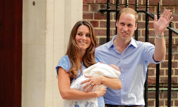 William and Kate yesterday