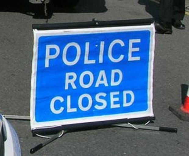 Arterial road closed following three car smash near the Treacle Mine roundabout