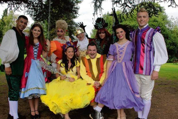Natalie Cassidy and the panto's stars