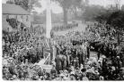 The unveiling of the Stanford war memorial