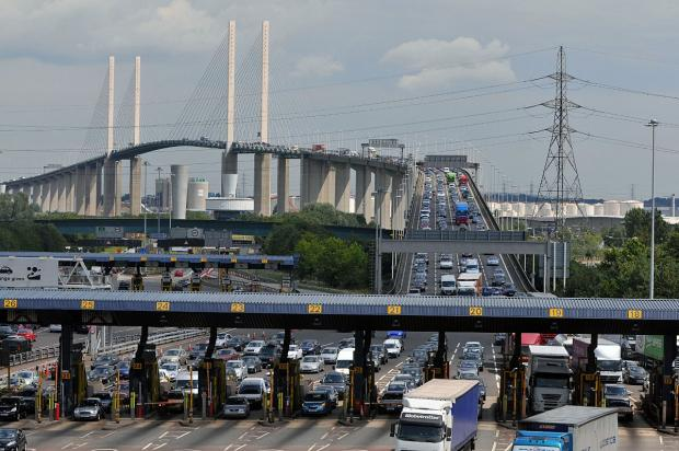 Two lanes have been closed in the Dartford Tunnel