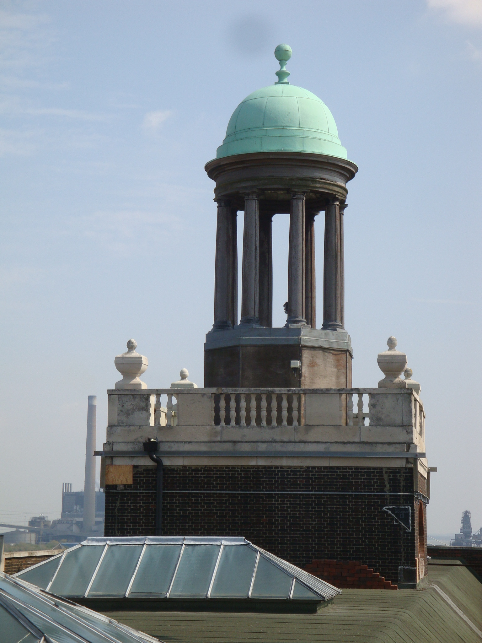 The cupola atop the London Cruise Terminal