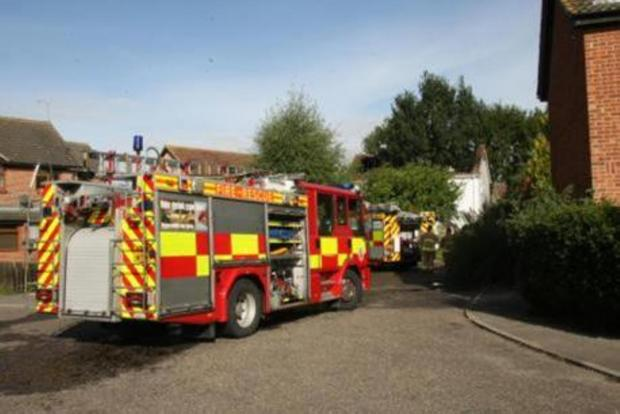 FIRE crews are currently tackling a blaze at a house on Brentwood Road, Bulphan.