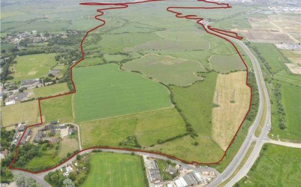 The plot of land - known as the Coryton estate - up for sale and under offer